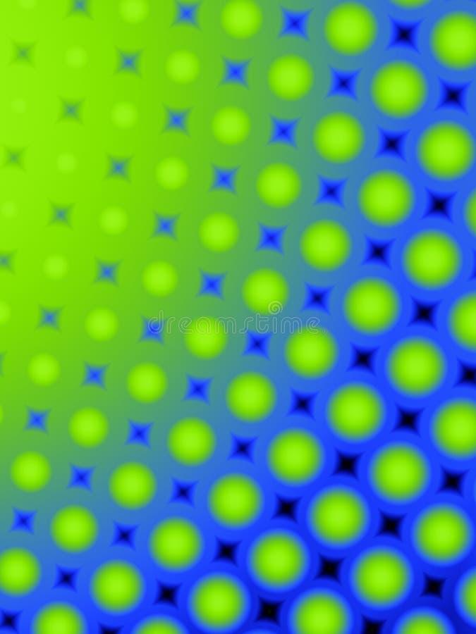 Configuration 2 de points de polka d'amusement rétro illustration de vecteur