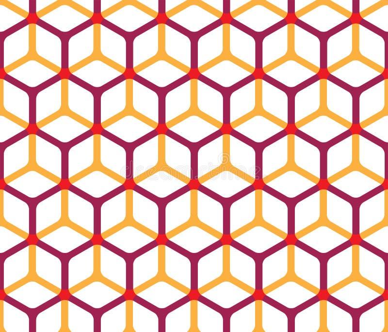Configuration abstraite de cube illustration libre de droits