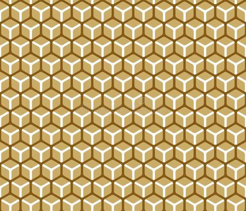Configuration abstraite de cube illustration de vecteur