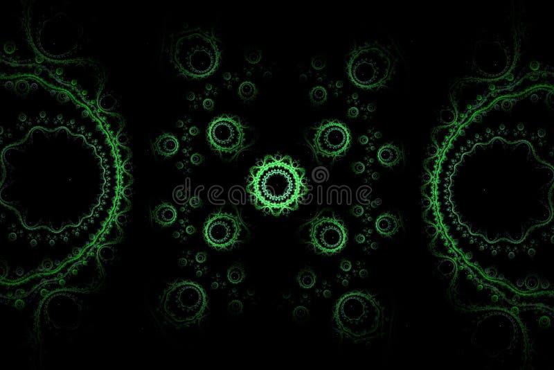 Configuration abstraite de fractale photographie stock