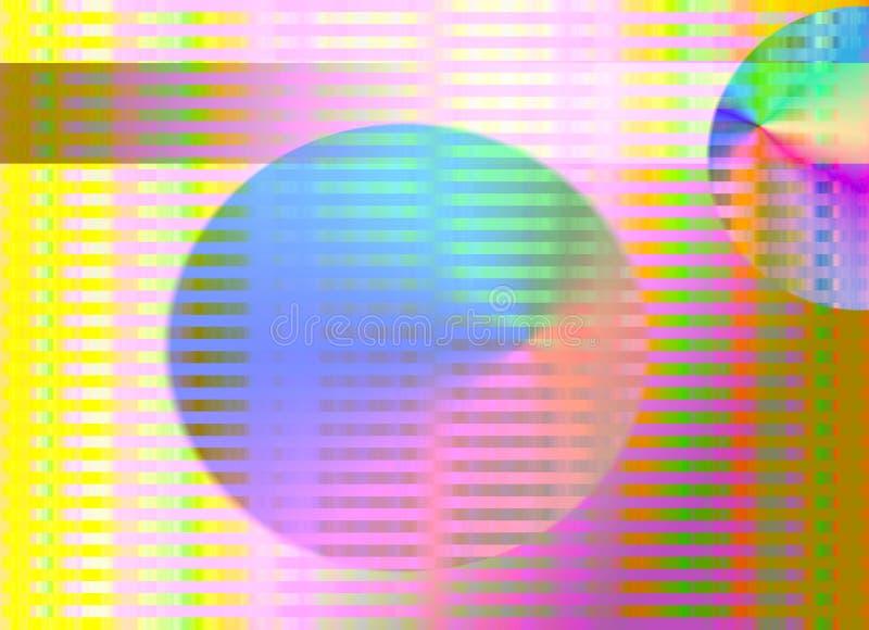 Configuration abstraite de piste d'arc-en-ciel illustration stock