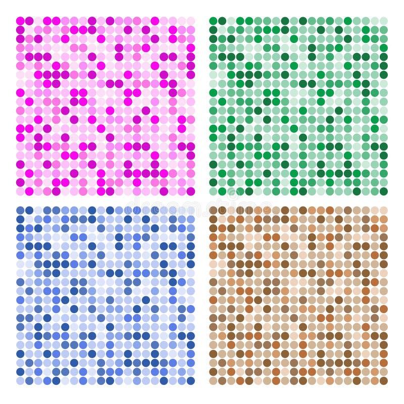 Configuration abstraite de tuile de cercle illustration libre de droits