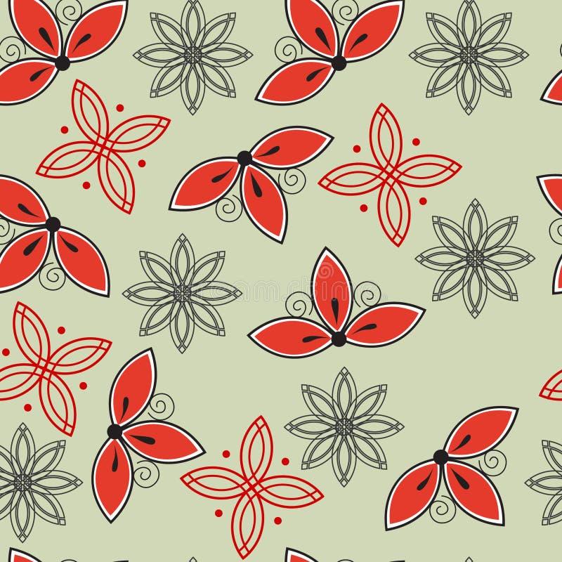 Configuration abstraite florale sans joint images libres de droits