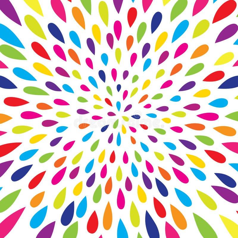 Configuration abstraite Fond de festival de tache de feu d'artifice Modèle blanc sans couture avec des baisses d'éclaboussure illustration stock