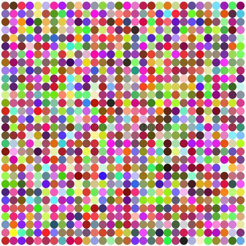 Configuration abstraite multicolore de rétro cercle illustration de vecteur