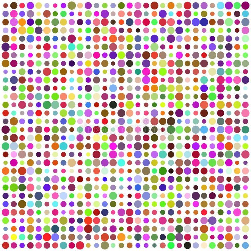 Configuration abstraite multicolore de rétro cercle illustration stock