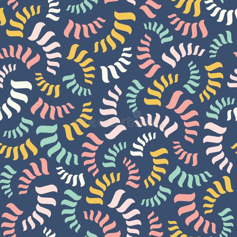 Configuration abstraite sans joint de vecteur Spirales colorées ou fils illustration de vecteur