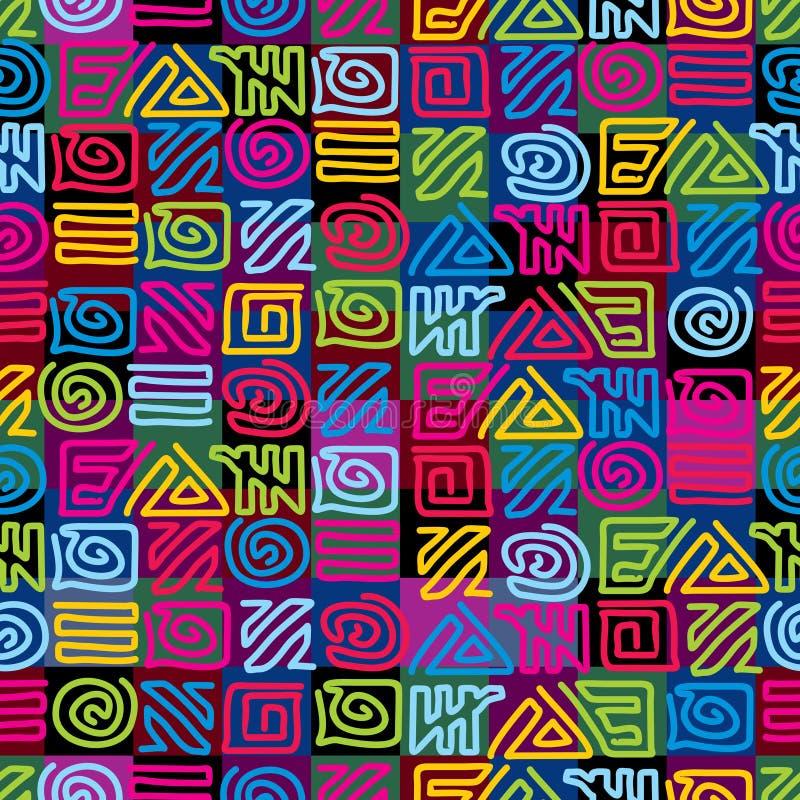 Configuration africaine illustration de vecteur