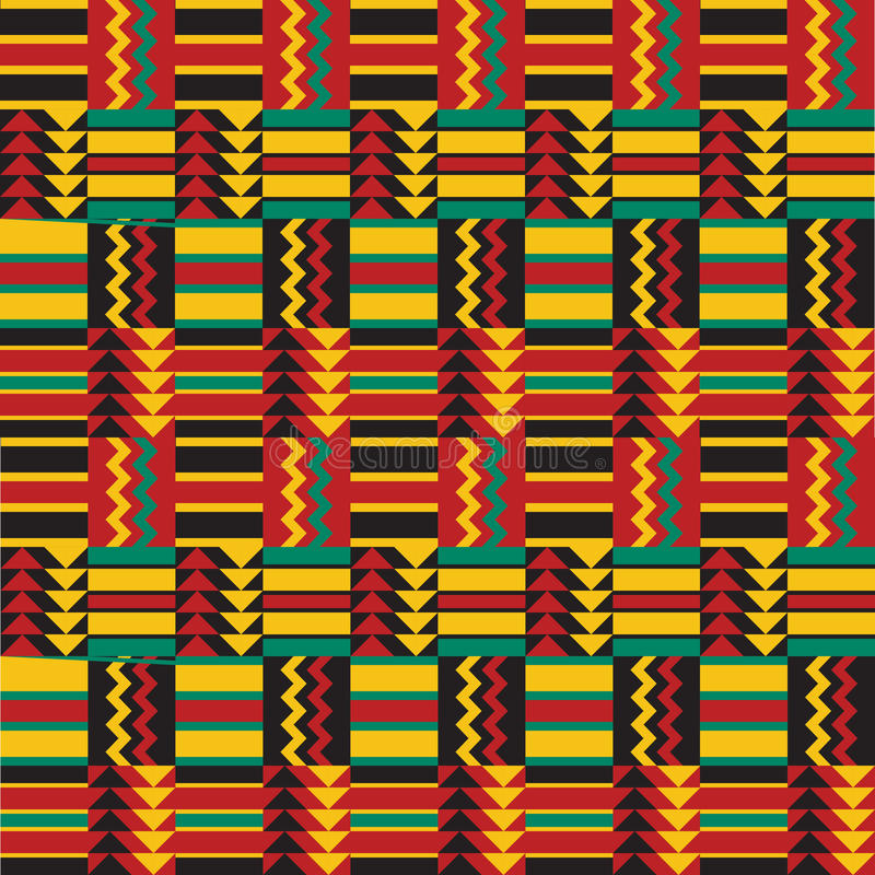 Configuration africaine sans joint illustration de vecteur