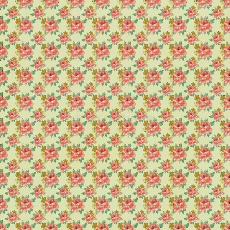 Configuration antique de papier peint de Rose de cru photo stock