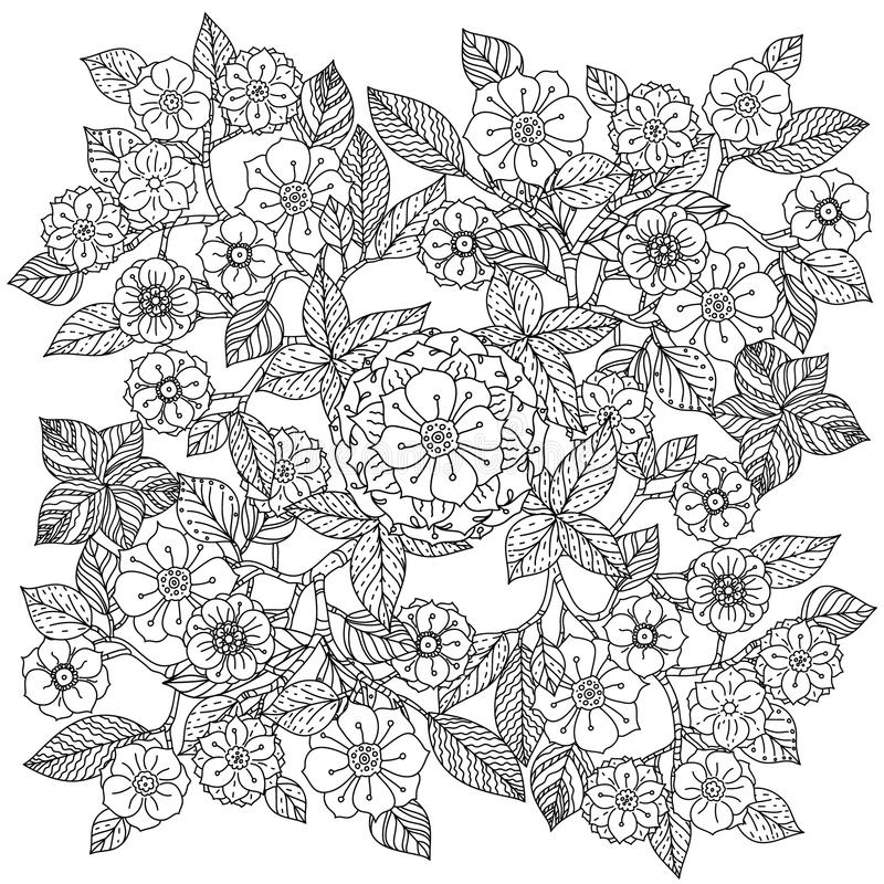 Configuration 08 Art de style de mandala Zentangle illustration libre de droits
