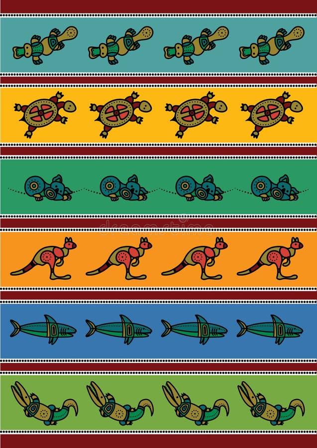 Configuration australienne illustration de vecteur