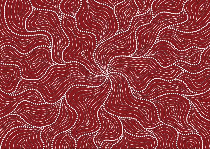 Configuration australienne illustration stock