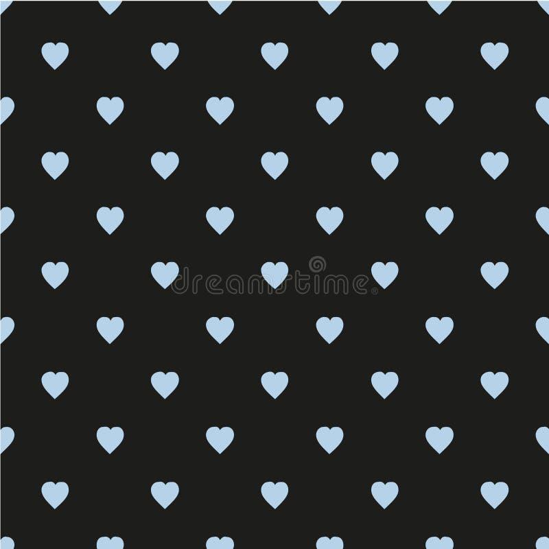 Configuration avec des coeurs Style scandinave plat pour la copie sur le tissu, papier cadeau, milieux de Web, réservation de chu illustration de vecteur
