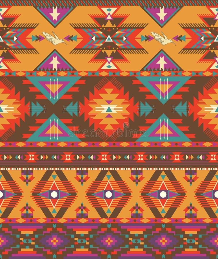 Configuration aztèque colorée sans joint illustration libre de droits