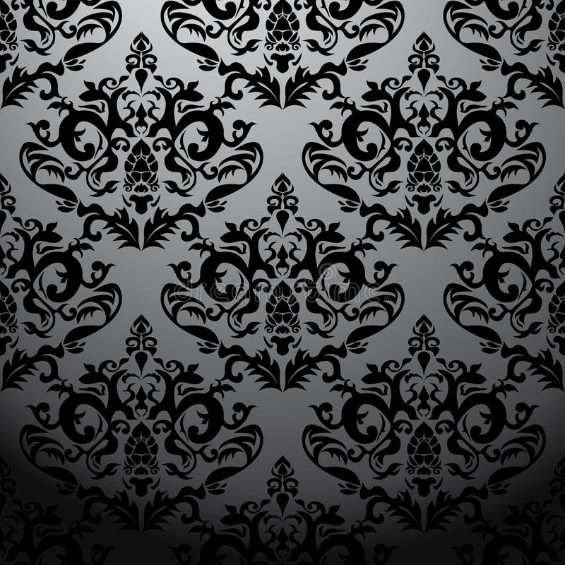 Configuration baroque noire exclusive illustration de vecteur