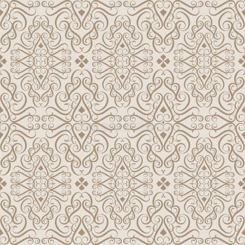 Configuration beige de papier peint illustration de vecteur