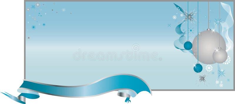 Configuration bleue de fond de Noël illustration libre de droits