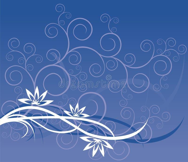 Configuration bleue des fleurs illustration libre de droits