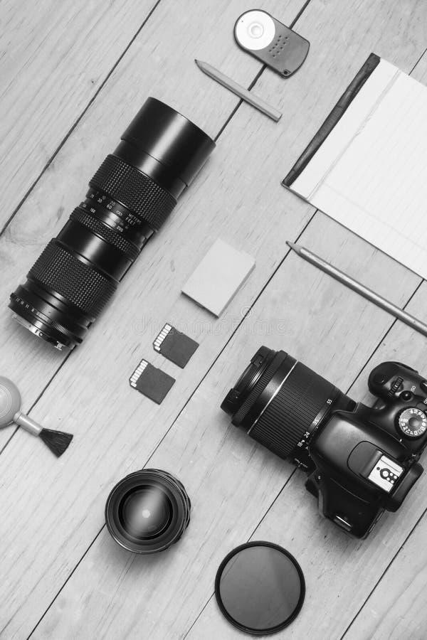 Configuration BW d'appartement de photographe images stock