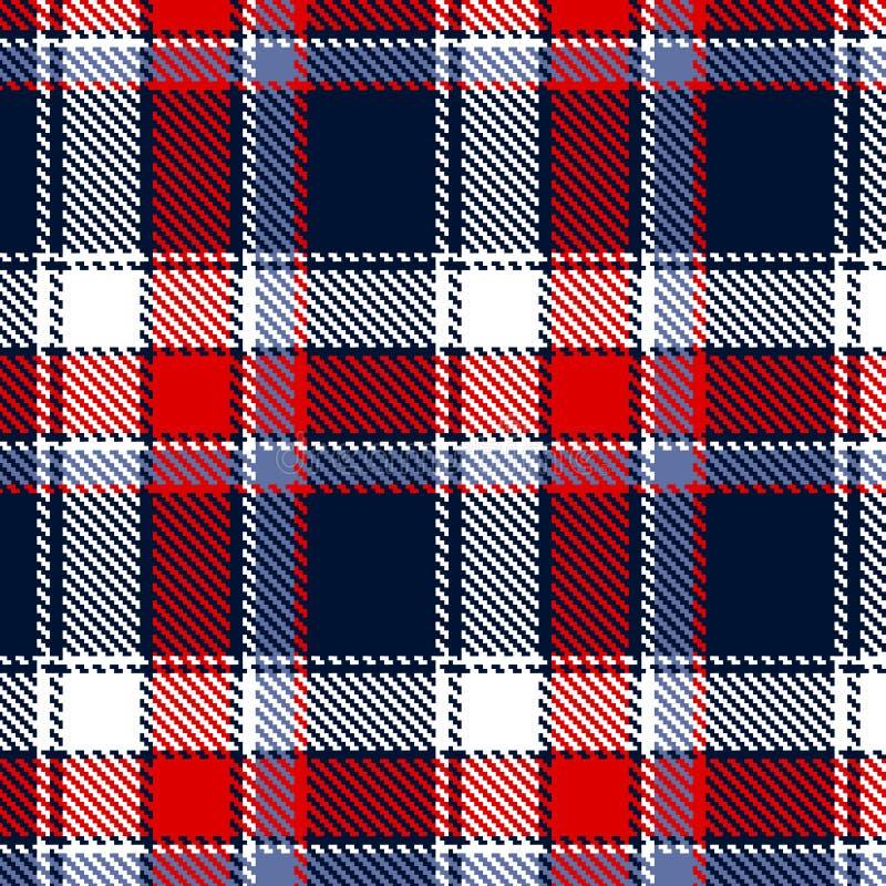 Configuration checkered sans joint illustration stock