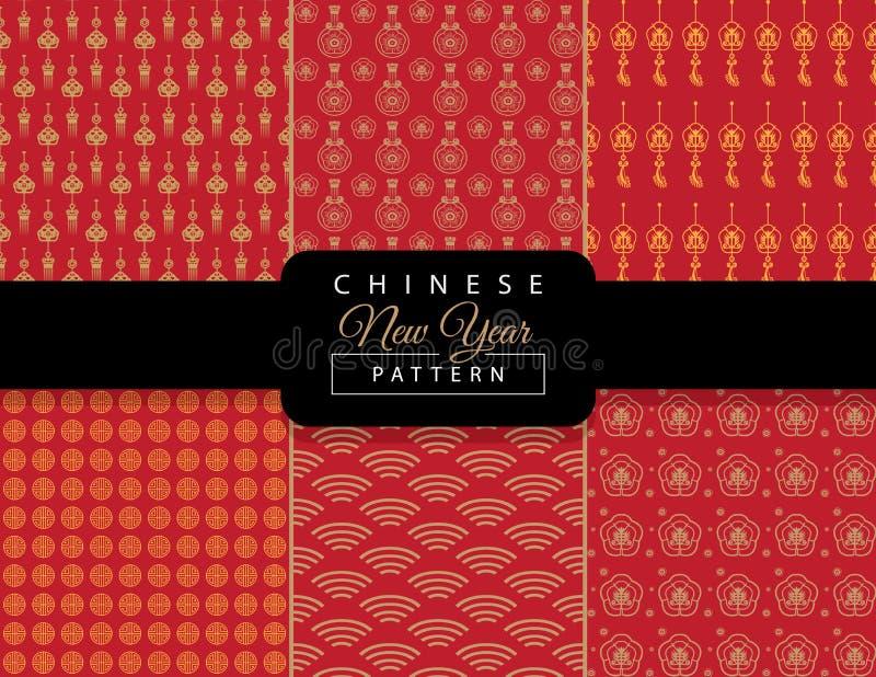 Configuration chinoise d'an neuf illustration de vecteur