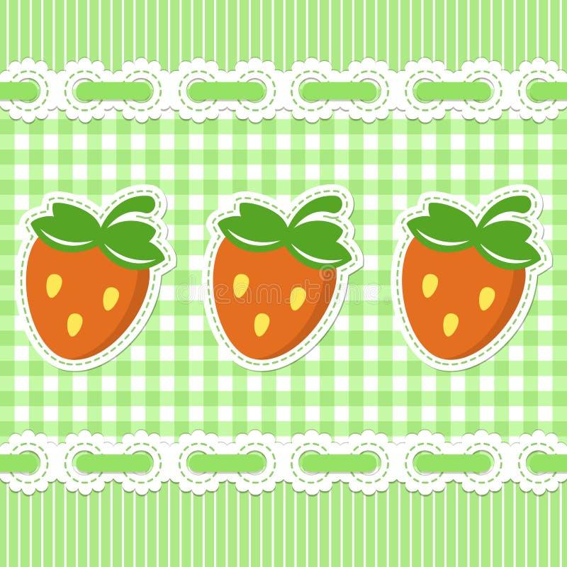 Configuration contrôlée par vert avec la fraise illustration de vecteur