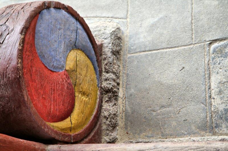 configuration coréenne antique tricolore image libre de droits