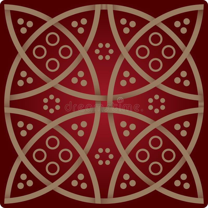Download Configuration D'élégance Dans Des Couleurs Rouges De Vin Illustration Stock - Illustration du tissu, cercle: 8663226