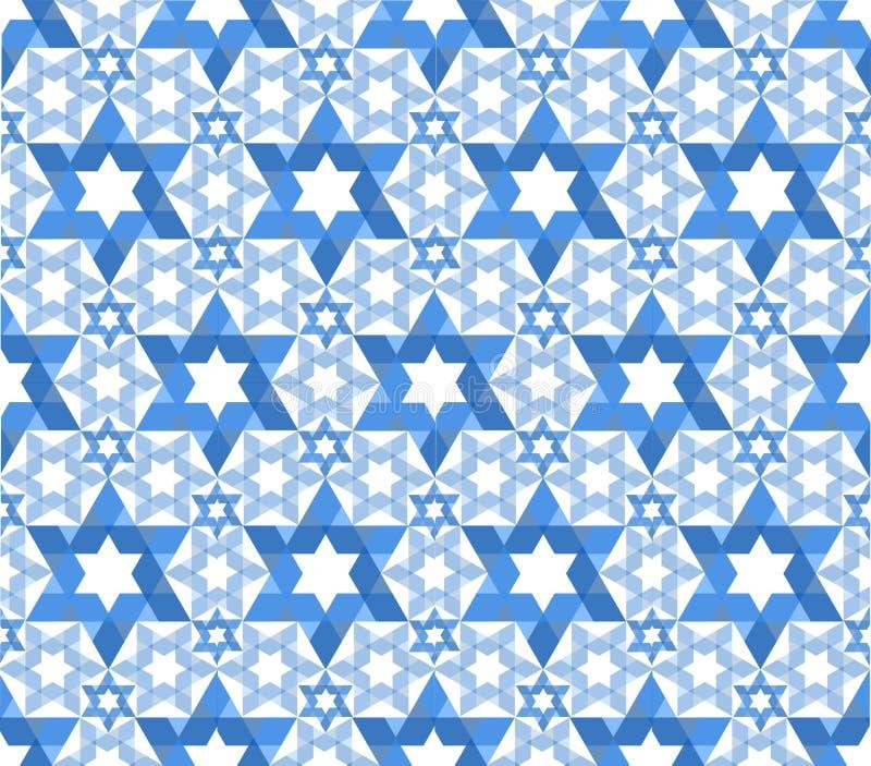 Configuration d'étoile de David illustration de vecteur
