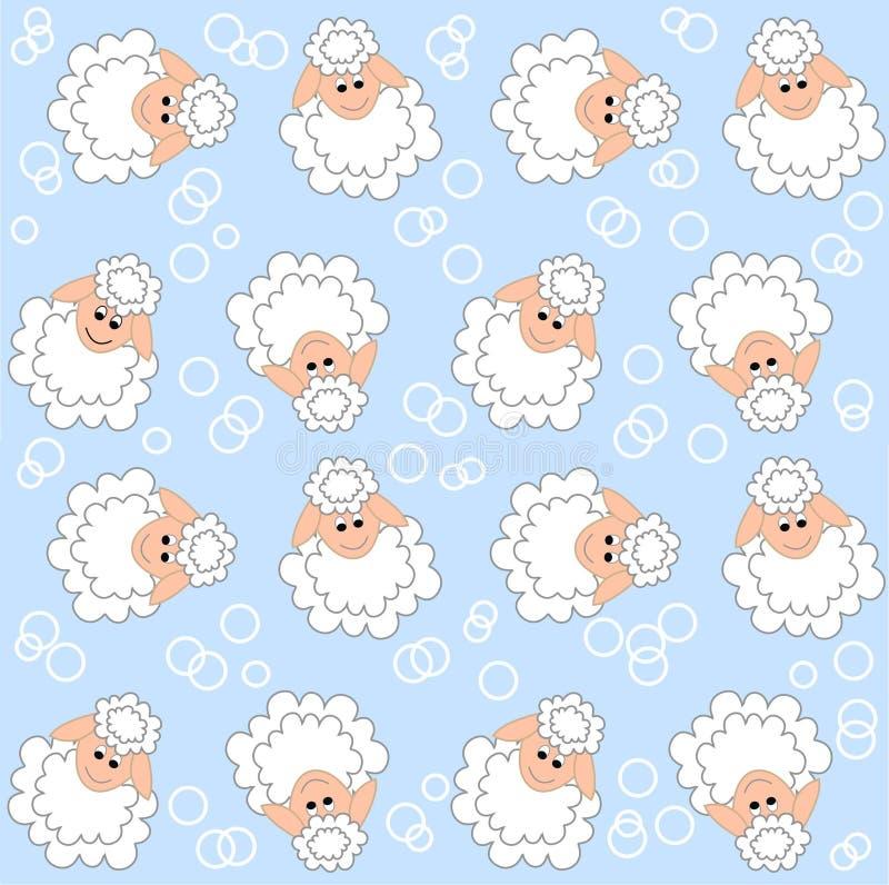 Configuration d'agneau sans joint illustration de vecteur
