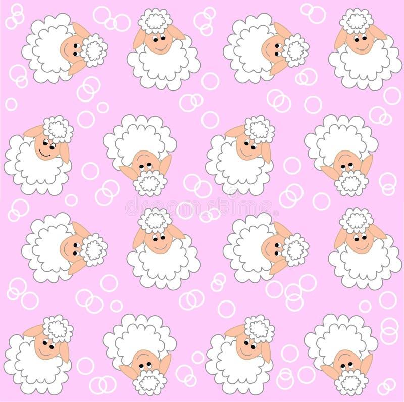 Configuration d'agneau sans joint illustration stock