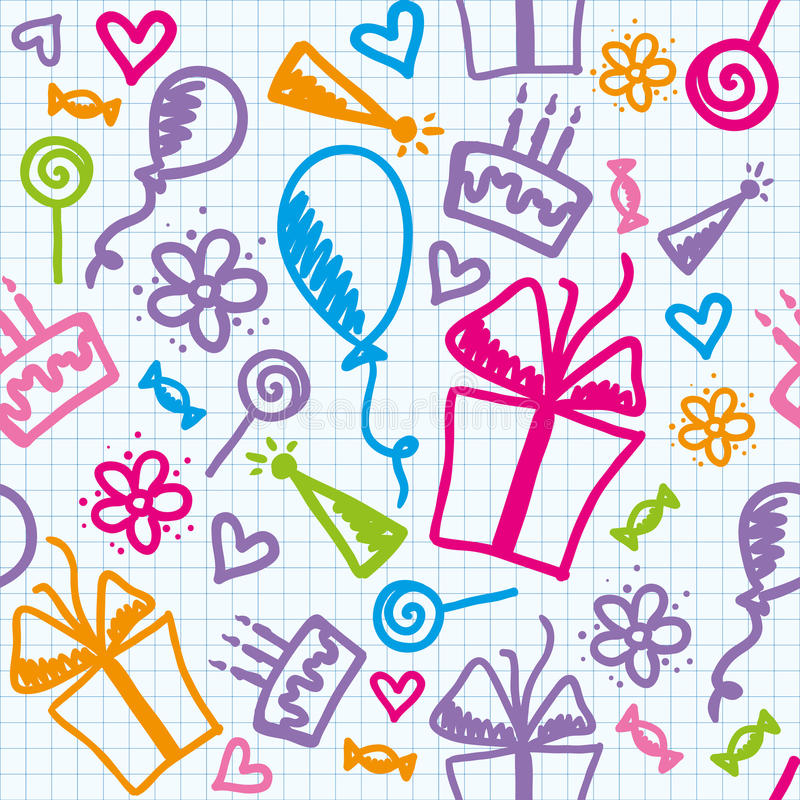 Configuration d'anniversaire illustration de vecteur
