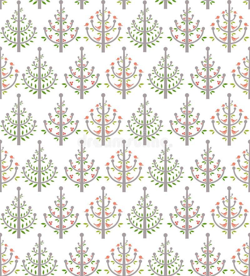 Configuration d'arbres illustration de vecteur