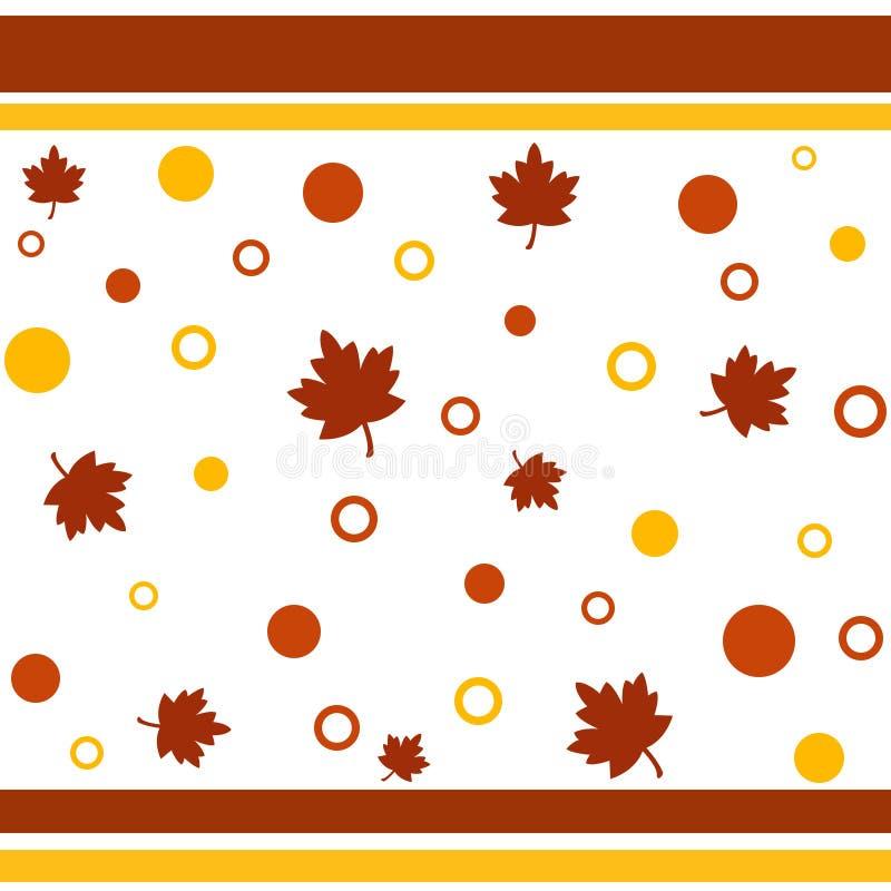 Configuration d'automne illustration de vecteur