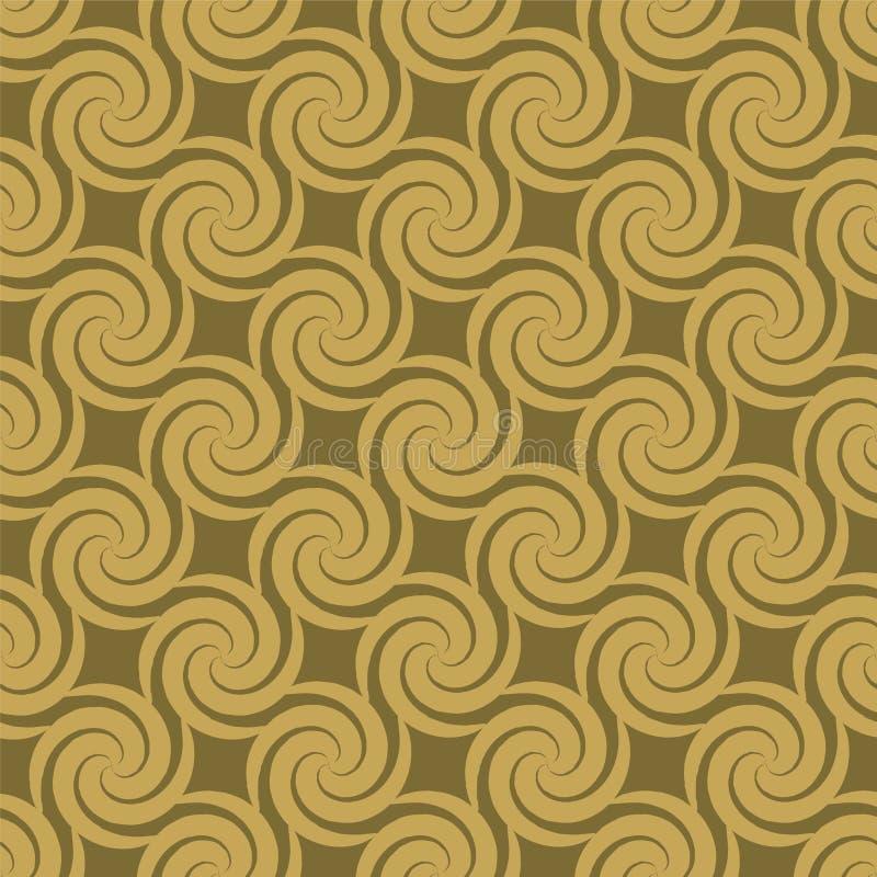 Configuration d'or de remous illustration de vecteur