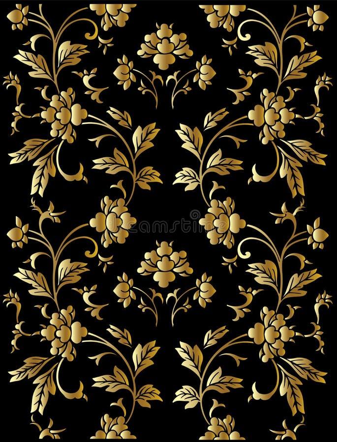configuration d'or florale illustration de vecteur