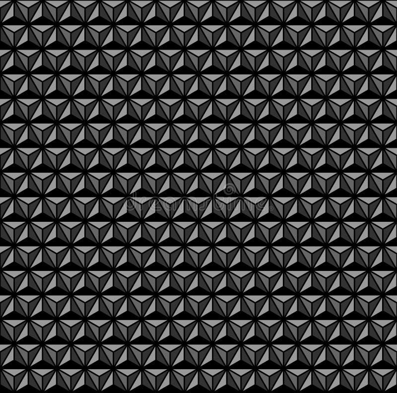 configuration 3d géométrique Fond et texture noirs et gris illustration stock