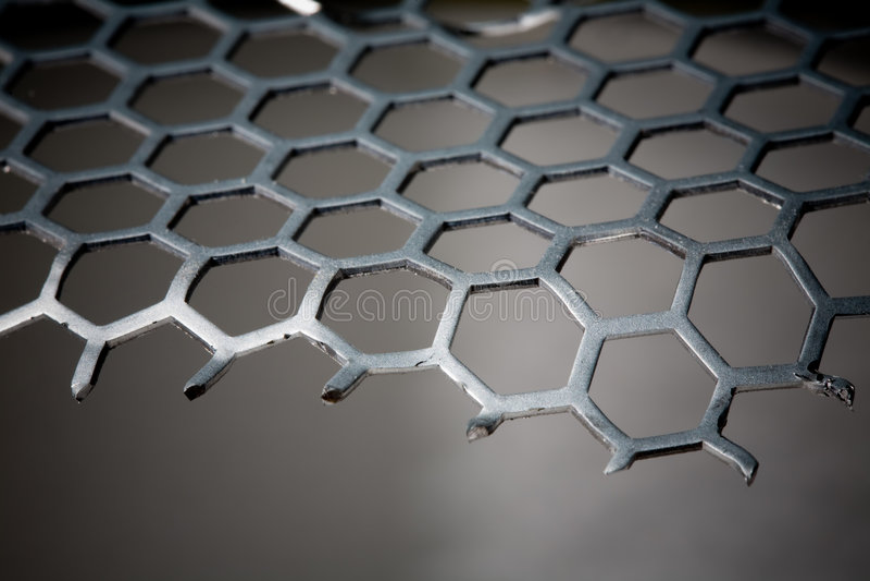 Configuration d'hexagone de fond en métal photos stock