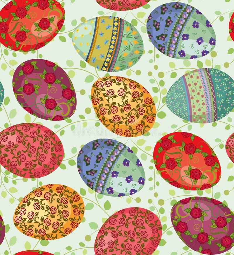 Configuration d'oeufs de pâques illustration stock