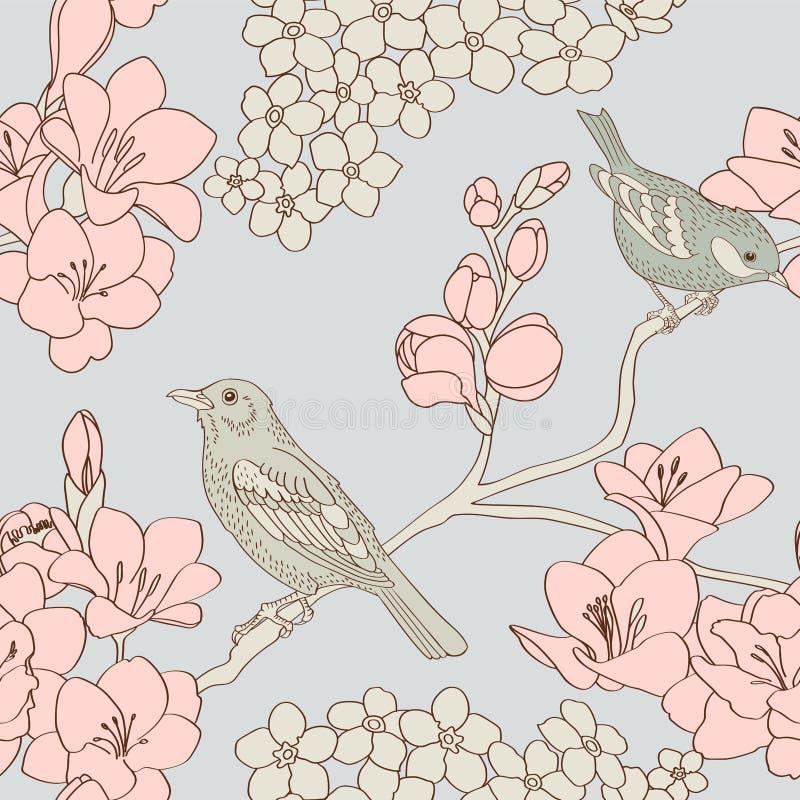Configuration d'oiseaux illustration de vecteur