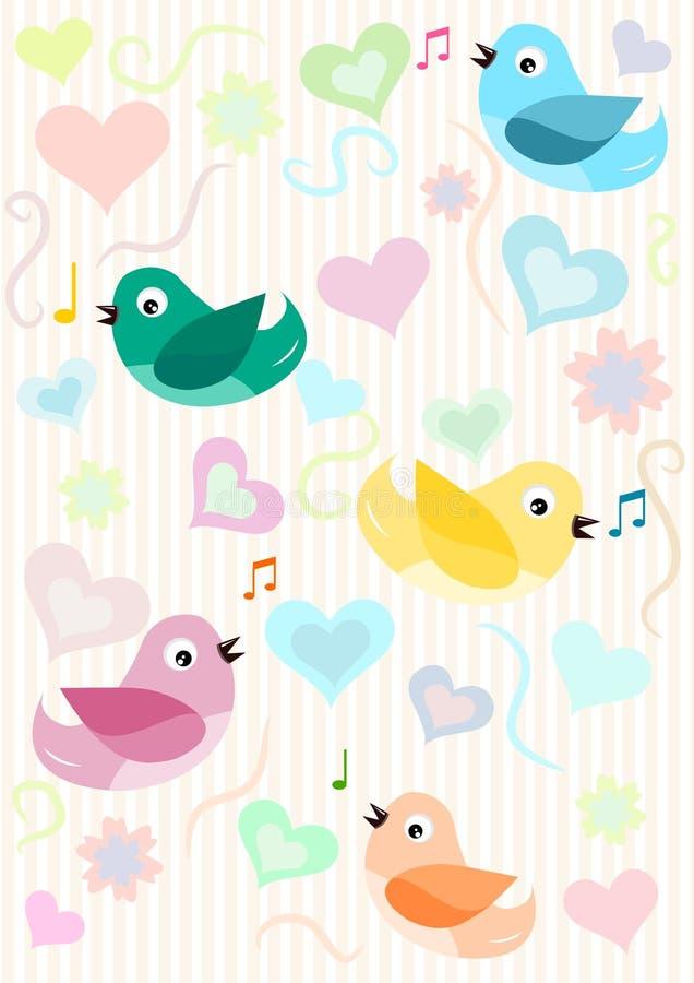 Configuration d'oiseaux illustration libre de droits