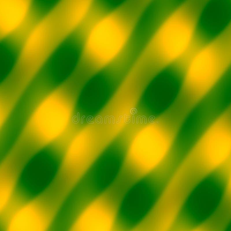 Configuration d'onde abstraite Fond de vert jaune Illustration décorative brouillée Texture d'art Illustration colorée par doux I illustration de vecteur