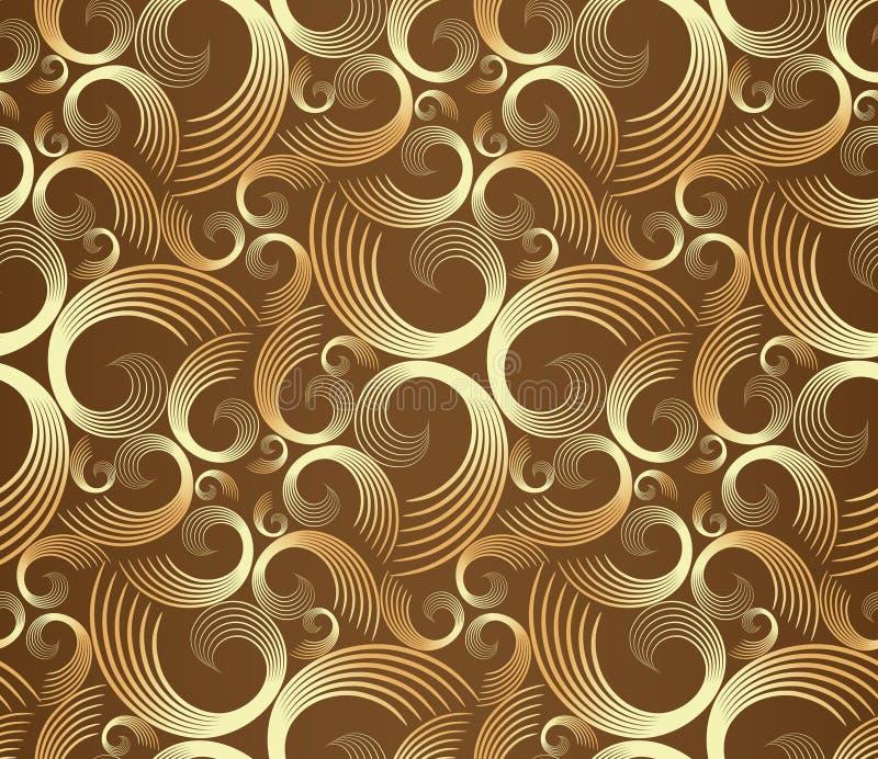 Configuration d'or sans joint de spirales illustration libre de droits
