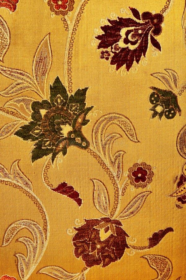 Configuration d'une rétro tapisserie florale image libre de droits