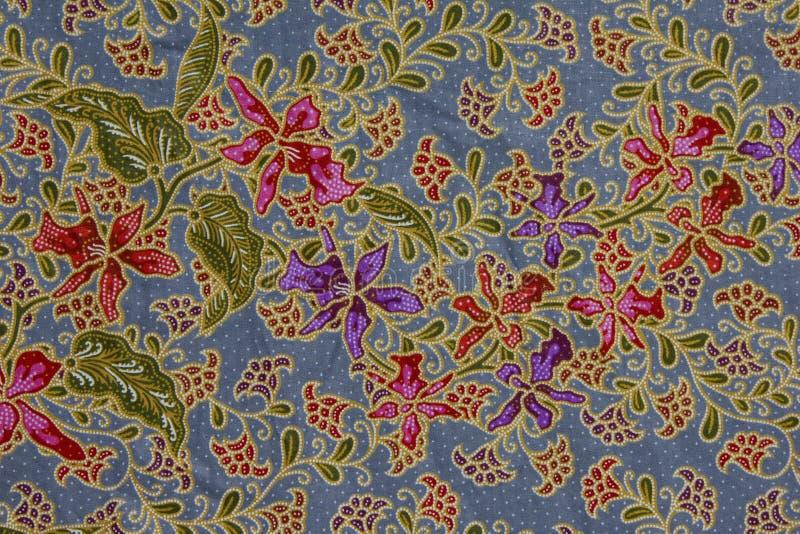 Configuration de batik, Indonésie photo stock