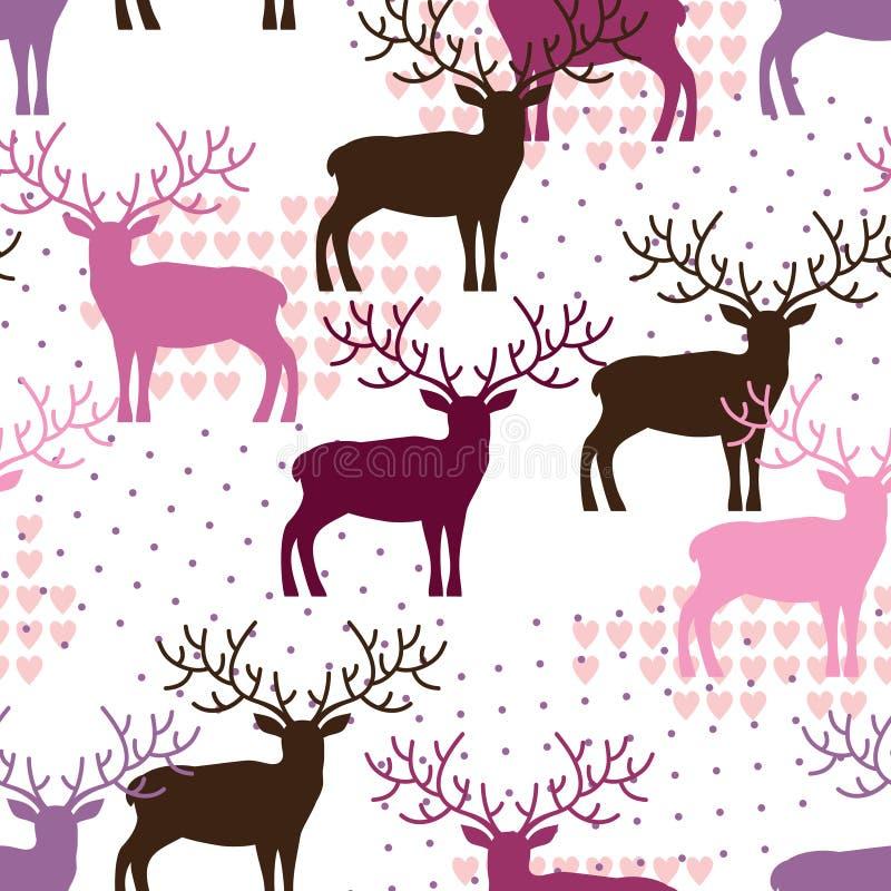 Configuration de cerfs communs illustration de vecteur