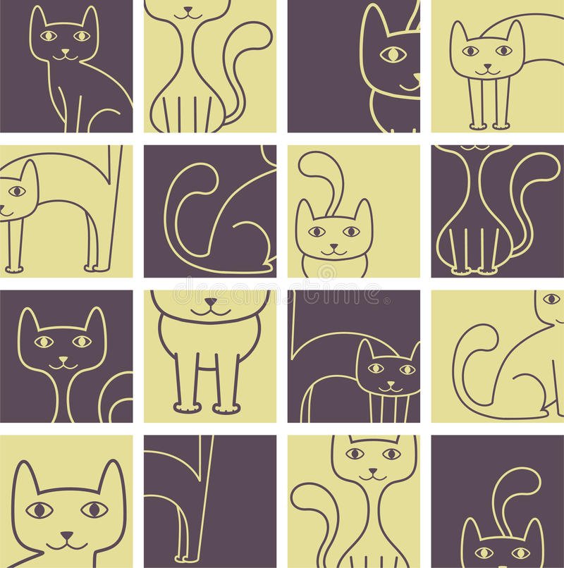 Configuration de chats illustration libre de droits