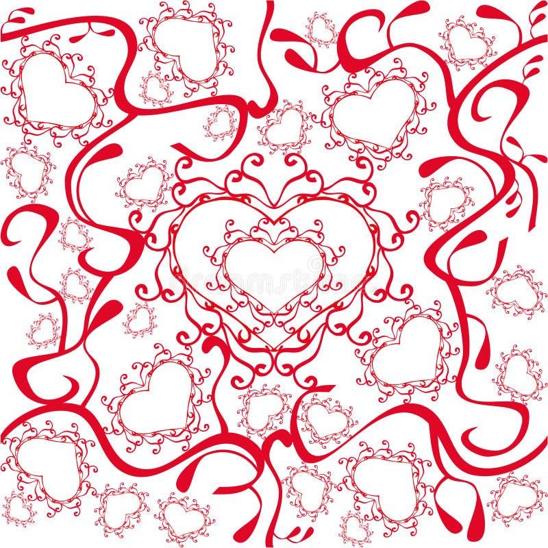 Configuration de coeurs illustration stock