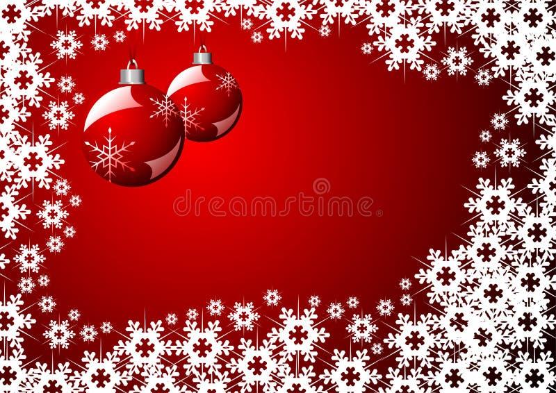 Configuration de cristaux de neige au-dessus du rouge illustration libre de droits